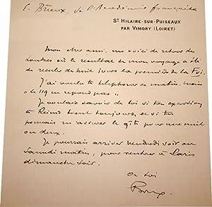 Lettre Autographe Signée.: BRIEUX (Eugène).