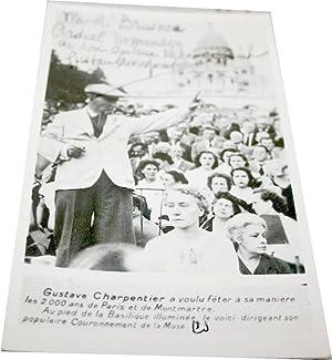 """Photographie autographe signée adressée à A. BRUINEN."""" Cordial hommage de..."""