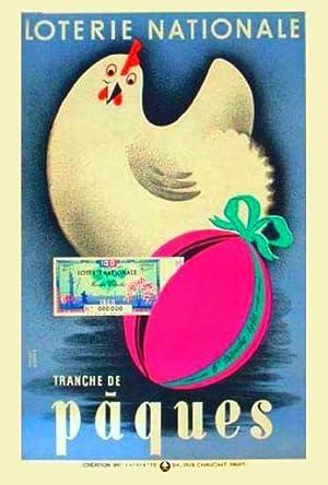 Loterie Nationale Tranche de Pâques Affiche de Derouet & Lesacq.: Derouet & Lesacq.