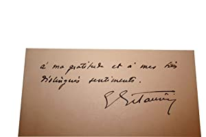 Carton Autographe Signé.: ESTAUNIE (Edouard).