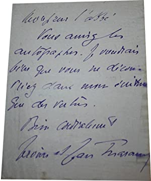 Lettre Autographe Signée de Jérôme et Jean THARAUD adressée à ...