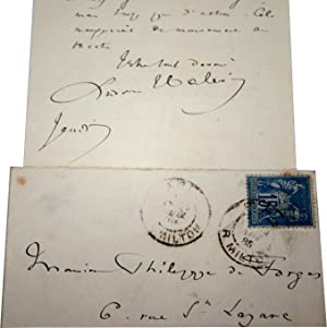 Lettre Autographe Signée Ludovic HALÉVY adressée à Philippe de Forges (...