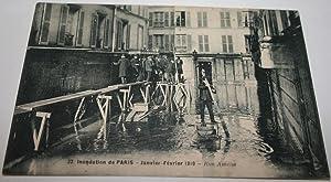 32-Inondations de Paris. Janvier -Février 1910 -Rue Amélie.: Carte Postale Ancienne -...