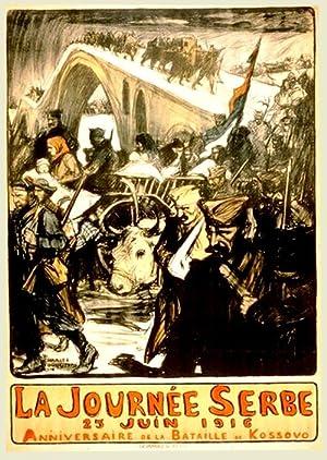 Affiche lithographie en couleurs signée FOUQUERAY (Dominque-Charles). La Journée ...