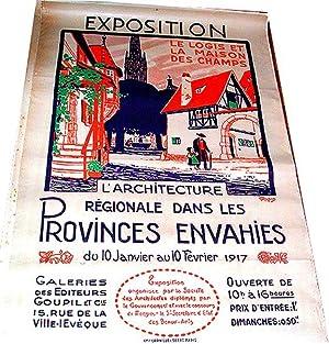 Affiche lithographie en couleurs signée RAPIN. EXPOSITION.: RAPIN