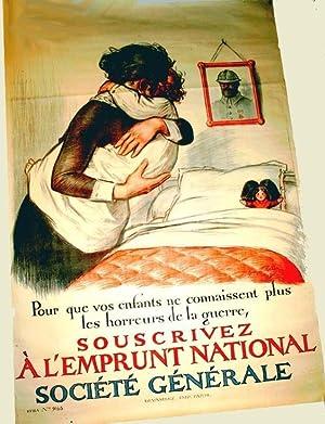 Affiche lithographie en couleurs signée Georges REDON. Pour que vos: REDON