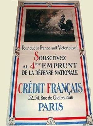 Affiche lithographie en noir & couleurs signée SCOTT Georges. Souscrivez au 4 ème...