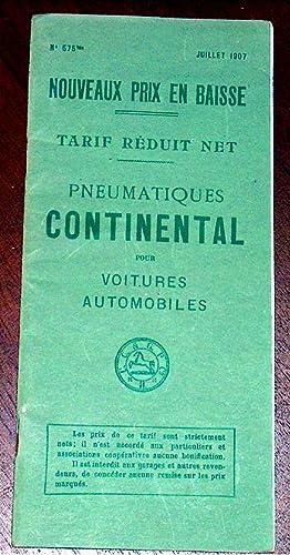 CONTINENTAL. Société Anonyme de Caoutchouc Manufacturé. Tarif réduit ...