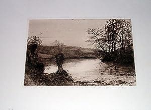 "Très belle eauforte ""Branscombe,Devon"": HESELTINE John"