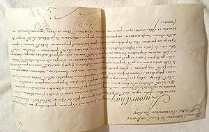 """Brevet manuscrit Sur vélin signé """"Louis"""" (secrétaire)Brevet: LOUIS XVI"""