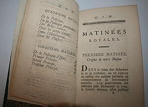 Matinées Royales ou Entretiens sur l'Art de Régner. 1766.: SCHWERIN (Comte