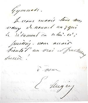 """Lettre Autographe Signée d'Emile Augier, adressée à un Ami """"Koning&..."""