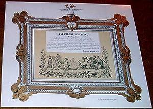 Carte porcelaine en couleur George HAND Architecte, Professeur à l'Académie de ...