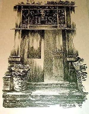 """Très belle lithographie""""Devanture de Bar àParis"""". signée dans la: ..."""