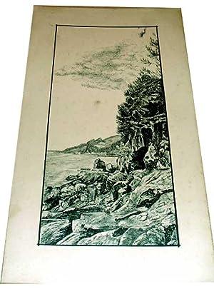 Très belle Encre de Chine, Signée en bas à droiteF. Quedec: Dessin original