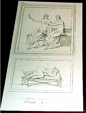 Gravure début XIX ème intiltulée SCENES EROTIQUES: GRAVURE XIXème - EROTIQUE