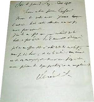 Lettre adressée à Gabiel DAUCHOT écrite et signée par André Th&...