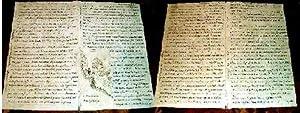 Très intéressant récit de voyages manuscrit XIX ème en Diligence ...