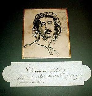 Fusainxixème représentant un portrait d'homme de Jules DEVAUX. Elève: ...