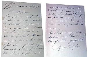 Belle lettre de Suzanne SEYLOR à Jeanne BRANLYTERRAT qui donne des: SEYLOR (Suzanne) &