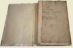 Recueil entierement manuscrit de Poésies de Louis BOUILHET, Festons: Louis BOUILHET