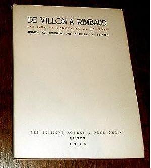 De Villon à Rimbaud, les jeux de l'Amour et de la Mort.: MESNARD (Pierre).