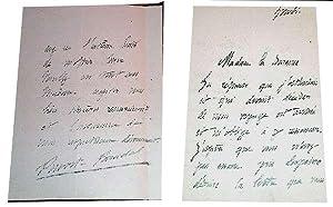 """Lettre autographe de Lucien-Anatole PRÉVOST-PARADOL """" Madame la baronne, La ré..."""