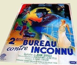 Affiche lithographie en couleurs illustrée par Jacques BONNEAU - 2ème BUREAU CONTRE ...
