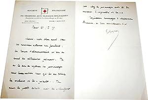 Lettre Autographe Signée adressée à André Beaunier sur papier entête de: GOYAU (Georges)