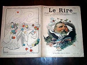 LE RIRE - N°226 - 4 mars 1899 - illustration en couleurs de la couverture Emile LOUBET par ...