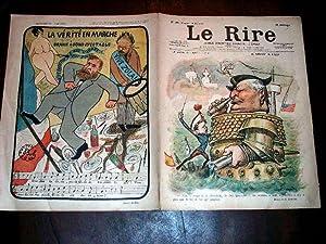 LE RIRE - N°185 - 21 mai 1898 - illustration en couleurs de la couverture Le président ...