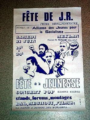 Affiche des années 70 Fêt de JR - Jeune Révolutionnaire - Journal de l'...