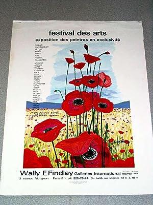 Affiche d'exposition illustrée d'un tableau de Michel Henry - Festival des Arts -...