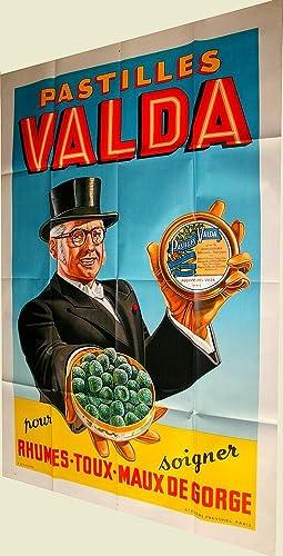 Affiche lithographie en couleurs - Pastilles Valda: PASTILLES VALDA