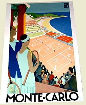 Reproduction sur papier epais type Canson d'une Affiche s Touristique ilustrée par ...