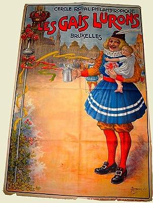 Affiche lithographie en couleurs signée G. ROMBAUX- Société Royale ...