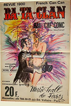 Affiche Revue 1900 BATACLANBalCaf Conc: BATACLAN