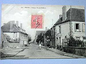 SENAN -Poste & Route d'Aillant: Carte Postale Ancienne - 89 - YONNE