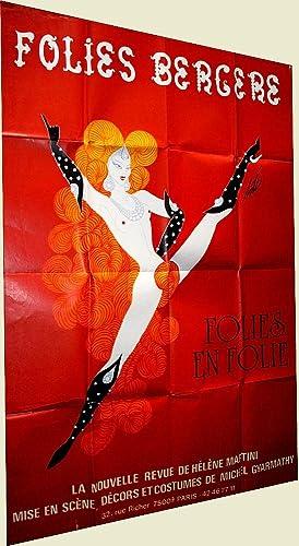 Affiche FOLIES BERGEREsignée Erté: ERTE