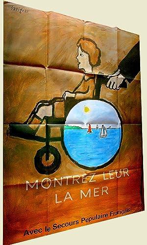 Affiche du Secours Populaire Français - Montrez leur la mer: SAVIGNAC - AFFICHE