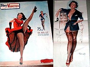 STARS ET VEDETTES - avec un grand Poster PIN UP de 75 cm, Par BRENOT. N° 38: Revue érotique des...