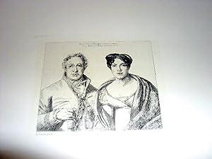 Eau-forte. Représentant Monsieur et Madame MONGEZ d'après Louis DAVID grav&...