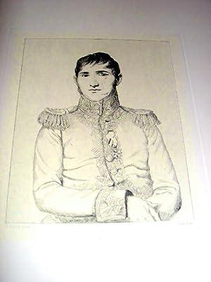 Eau-forte. Représentant le Général Baron JEANIN d'après Louis ...