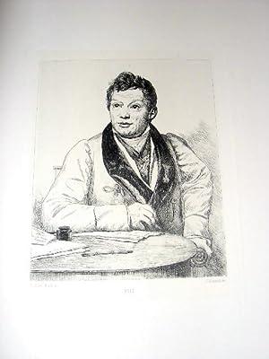 Eauforte. Représentant le Chevalier LENOIR d'après Louis DAVIDgravée: DAVID Jacques Louis