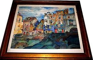 Aquarelle sur papier encadrée Signé en bas: KONOPATSKY (Eugène)