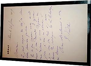 Lettre autographe à entête du Sénat signée Ernest Vallé au sujet ...