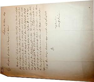 Lettre autographe signée de l'écrivain novelliste Adolph Douai: DOUAI (Adolph)