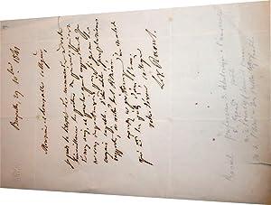Lettre autographe signée LV Raoul à MonsieurBasson Professeur à: RAOULL.V