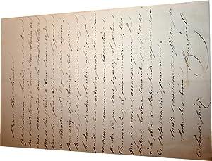 Lettre autographe signée d' Édouard Mazères. Il va entrer dans les: MAZERE