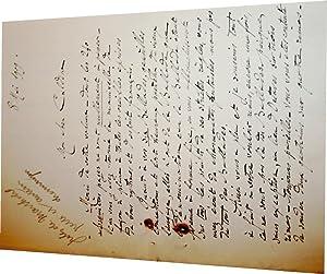 Lettre Autographe signée Marthold adressée à Caldine qui à envoy&eacute...